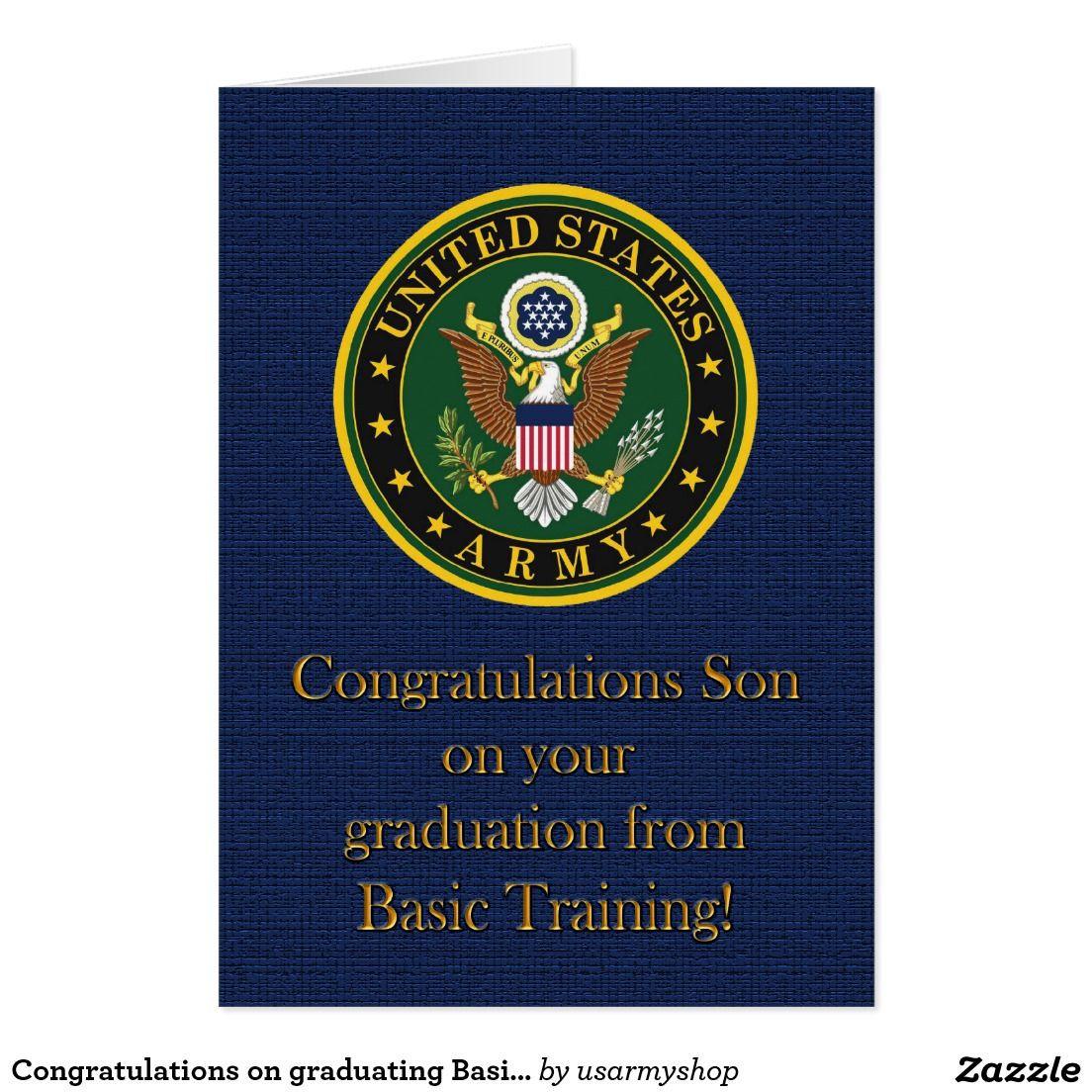 Basic Training Graduation Gift Ideas  Congratulations on graduating Basic Training Card