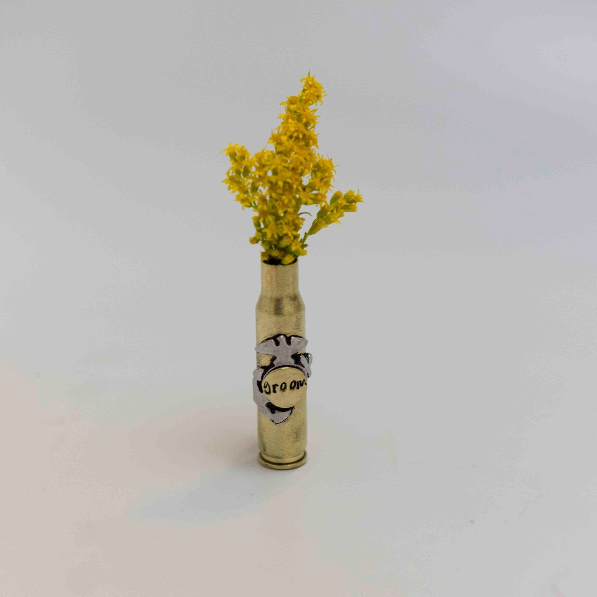 Basic Training Graduation Gift Ideas  USMC lapel vase bullet lapel pin custom boutonniere