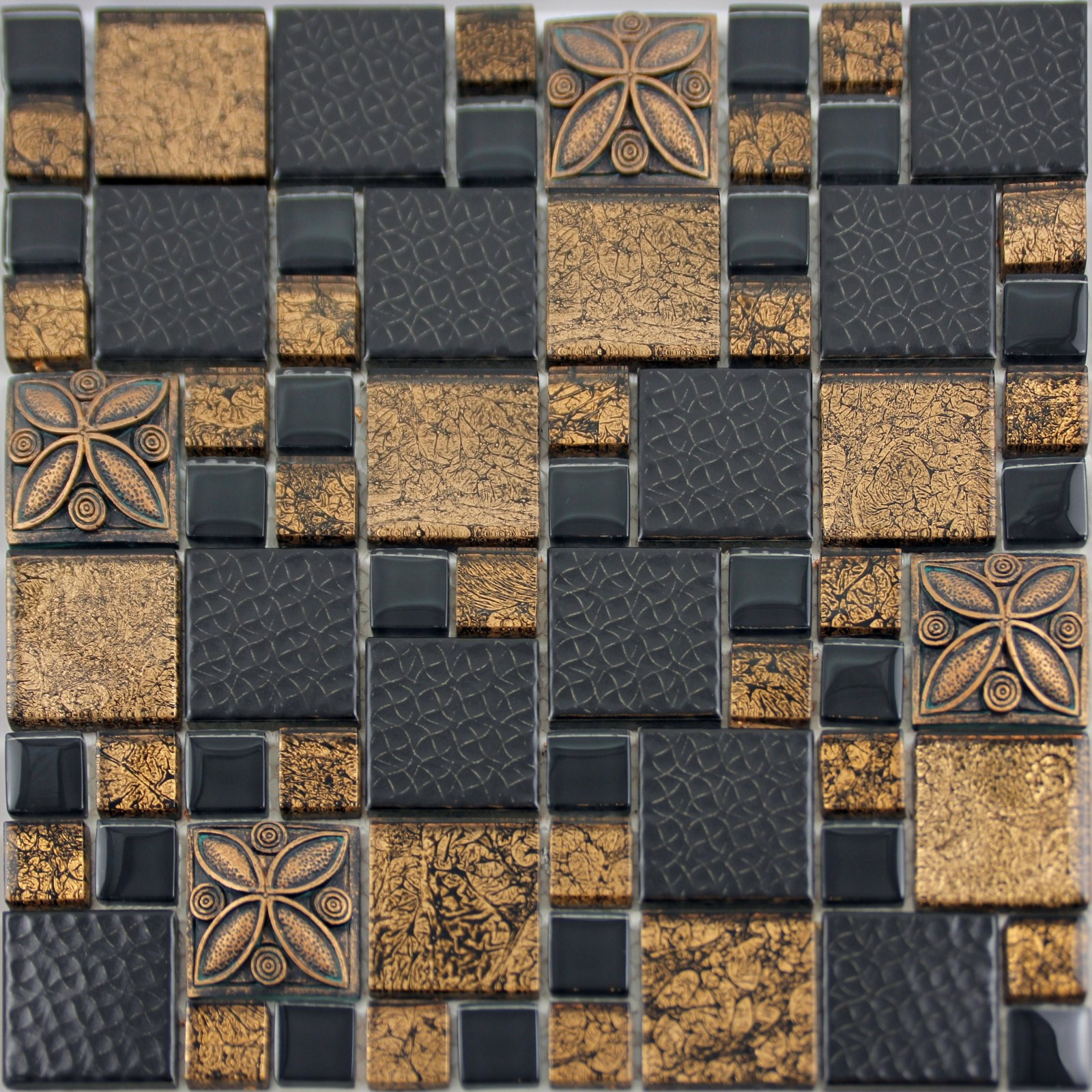 Bathroom Ceramic Floor Tile Ideas  Black Porcelain Mosaic Tile Designs Gold Glass Tiles