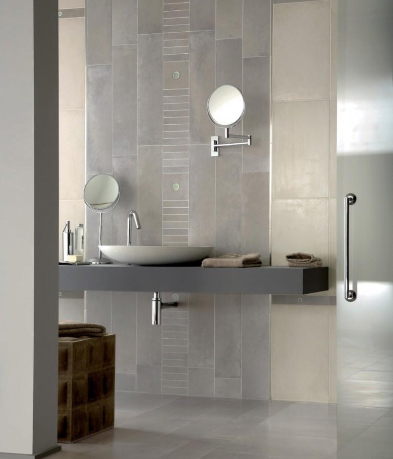 Bathroom Ceramic Floor Tile Ideas  30 ideas on using polished porcelain tile for bathroom floor