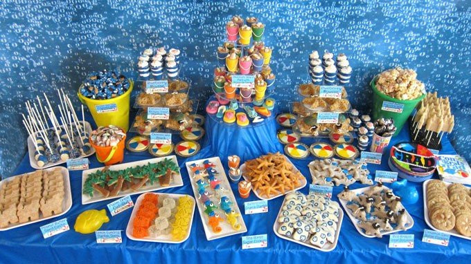 Beach Food Ideas For Party  Beach Themed Party Ideas & Under the Sea Desserts
