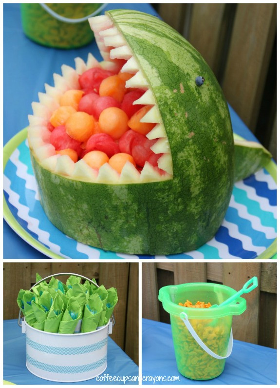 Beach Food Ideas For Party  Surfer and Shark Party Dimple Prints