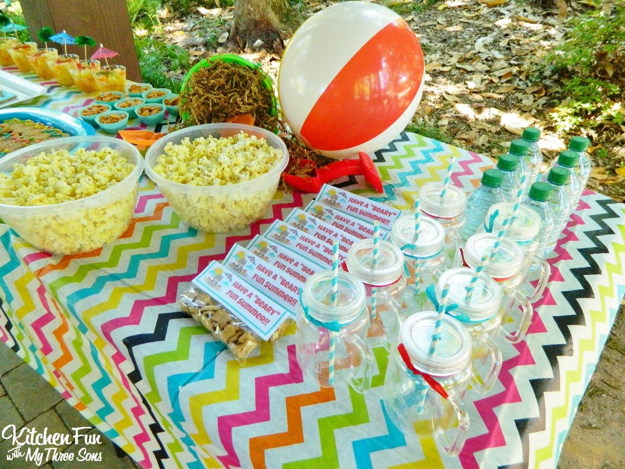 Beach Food Ideas For Party  Teddy Bear Beach Party Treats & Snacks including a Free