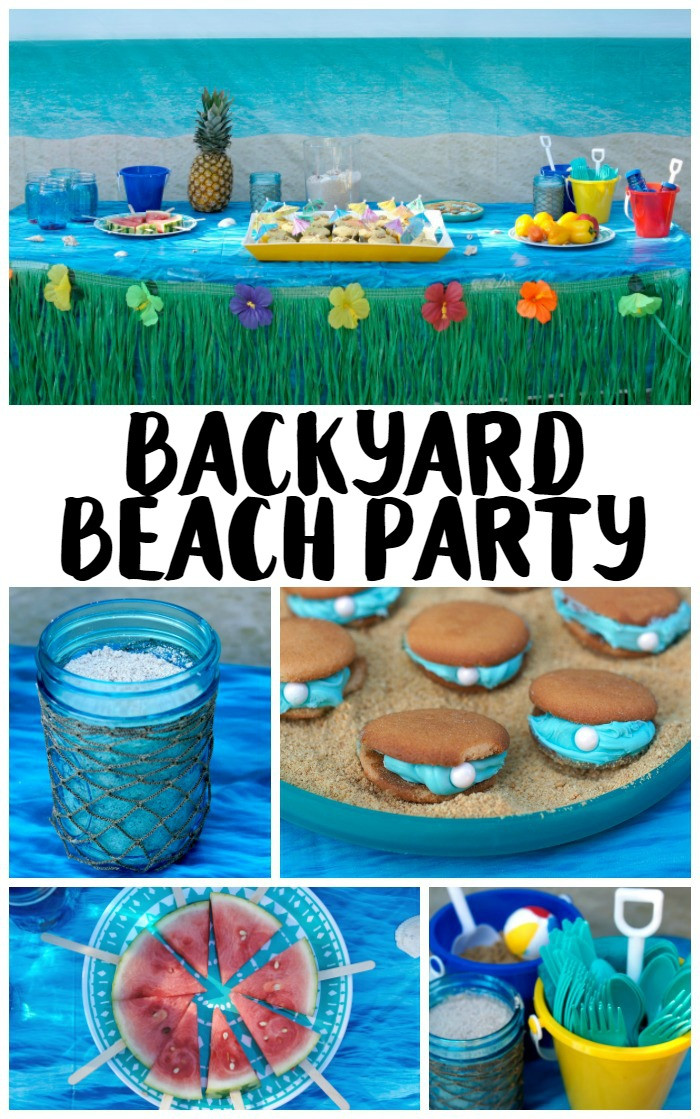 Beach Food Ideas For Party  Backyard Beach Party Ideas Not Quite Susie Homemaker