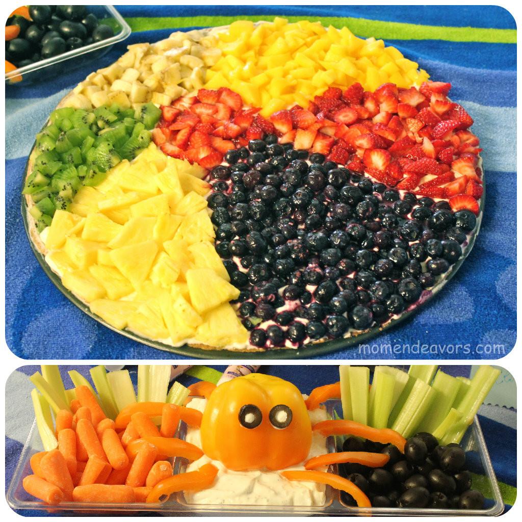 Beach Food Ideas For Party  Beach Ball Fruit Pizza & Bell Pepper Octopus Veggie Dip