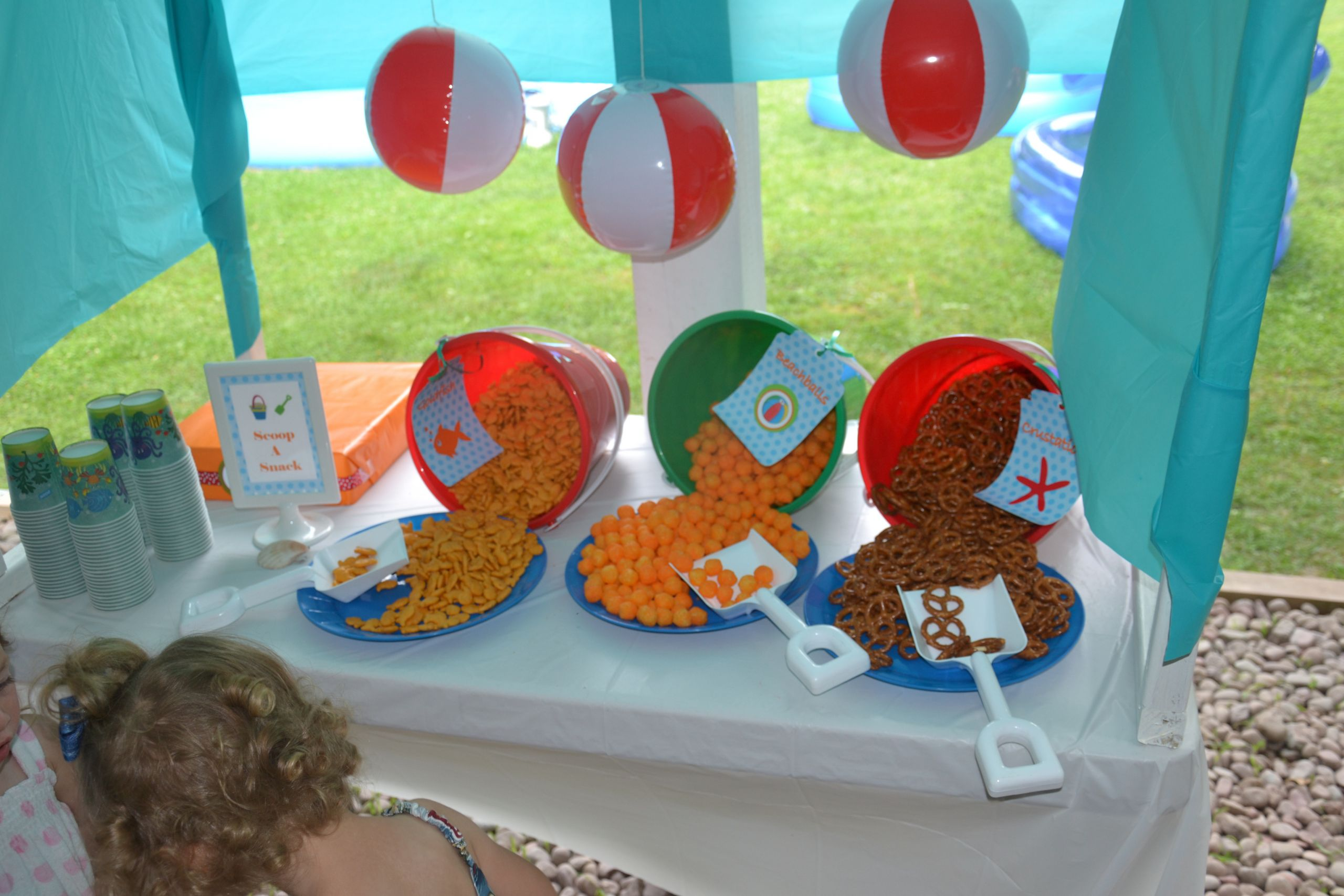Beach Food Ideas For Party  Party on a Bud  Ideas for Serving Summer Snacks