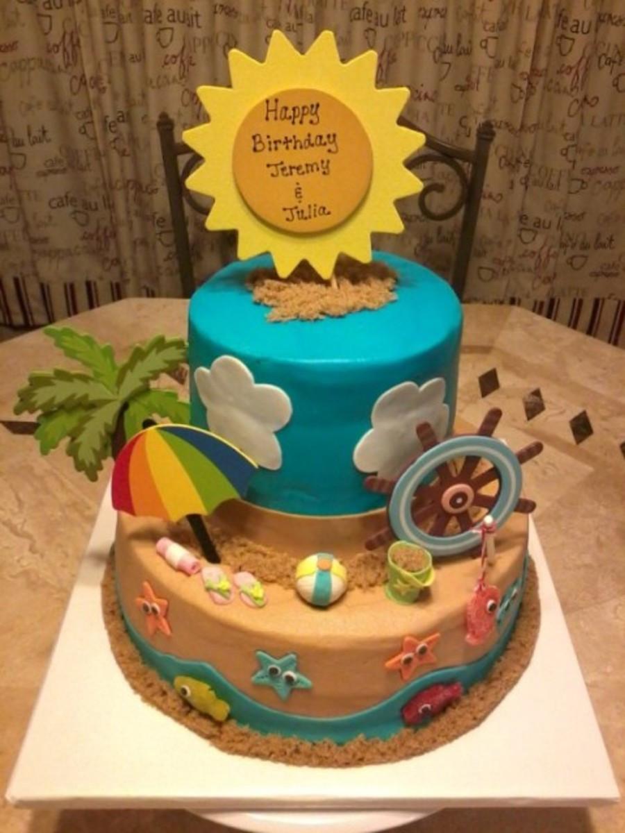 Beach Theme Birthday Cake  Beach Theme Birthday Cake For A Brother And Sister