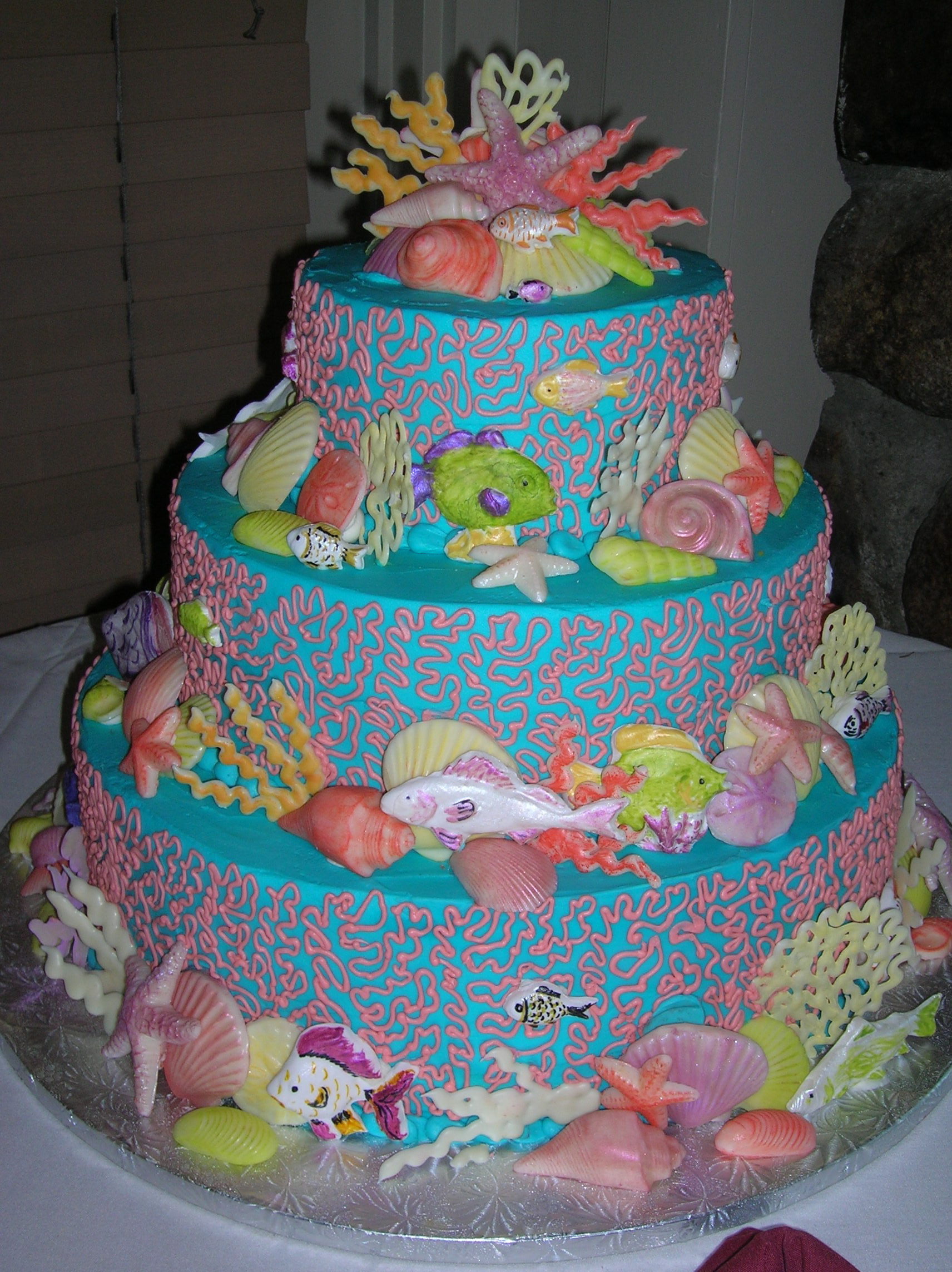 Beach Theme Birthday Cake  Veronica s Sweetcakes Beach and Nautical Cakes