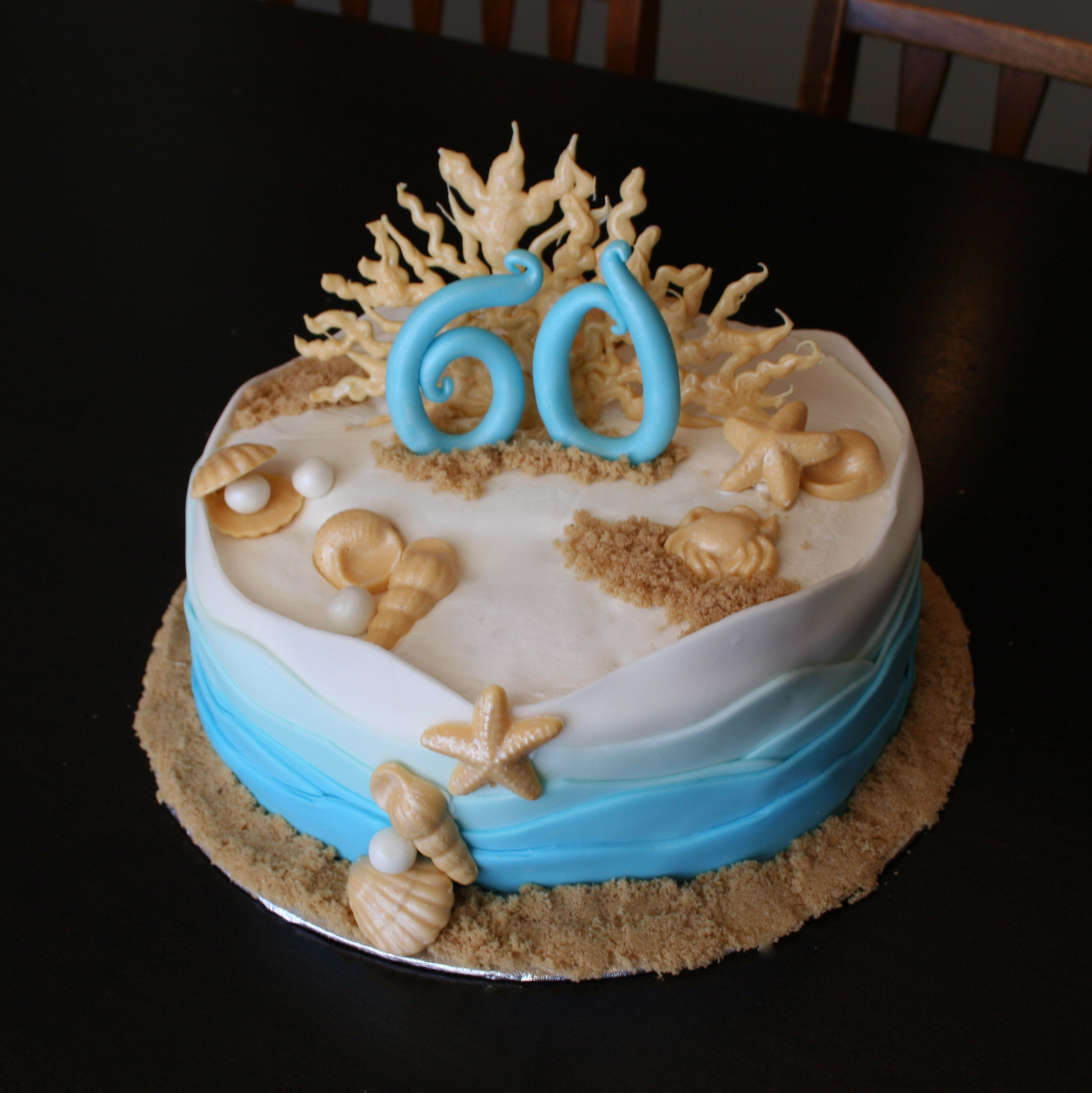 Beach Theme Birthday Cake  Sophisticated Cakes
