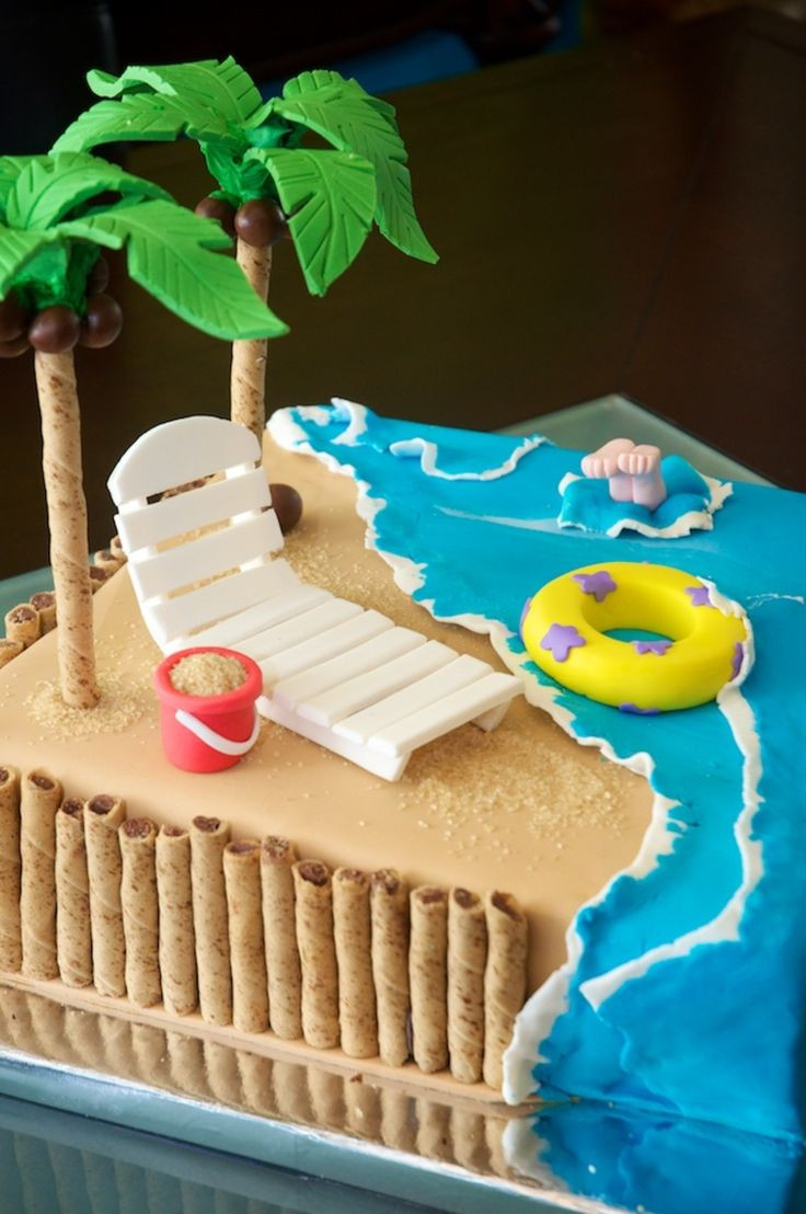 Beach Theme Birthday Cake  38 best Summer Cake & Cookie Ideas images on Pinterest