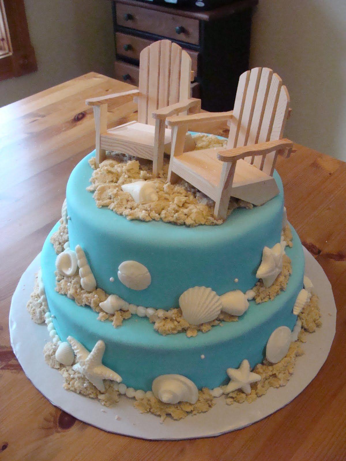 Beach Theme Birthday Cake  Beach Themed Cake