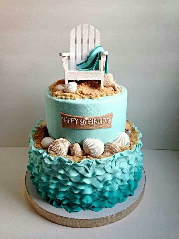 Beach Theme Birthday Cake  Top 15 Beach Ocean Themed Cakes Cupcakes & Biscuits