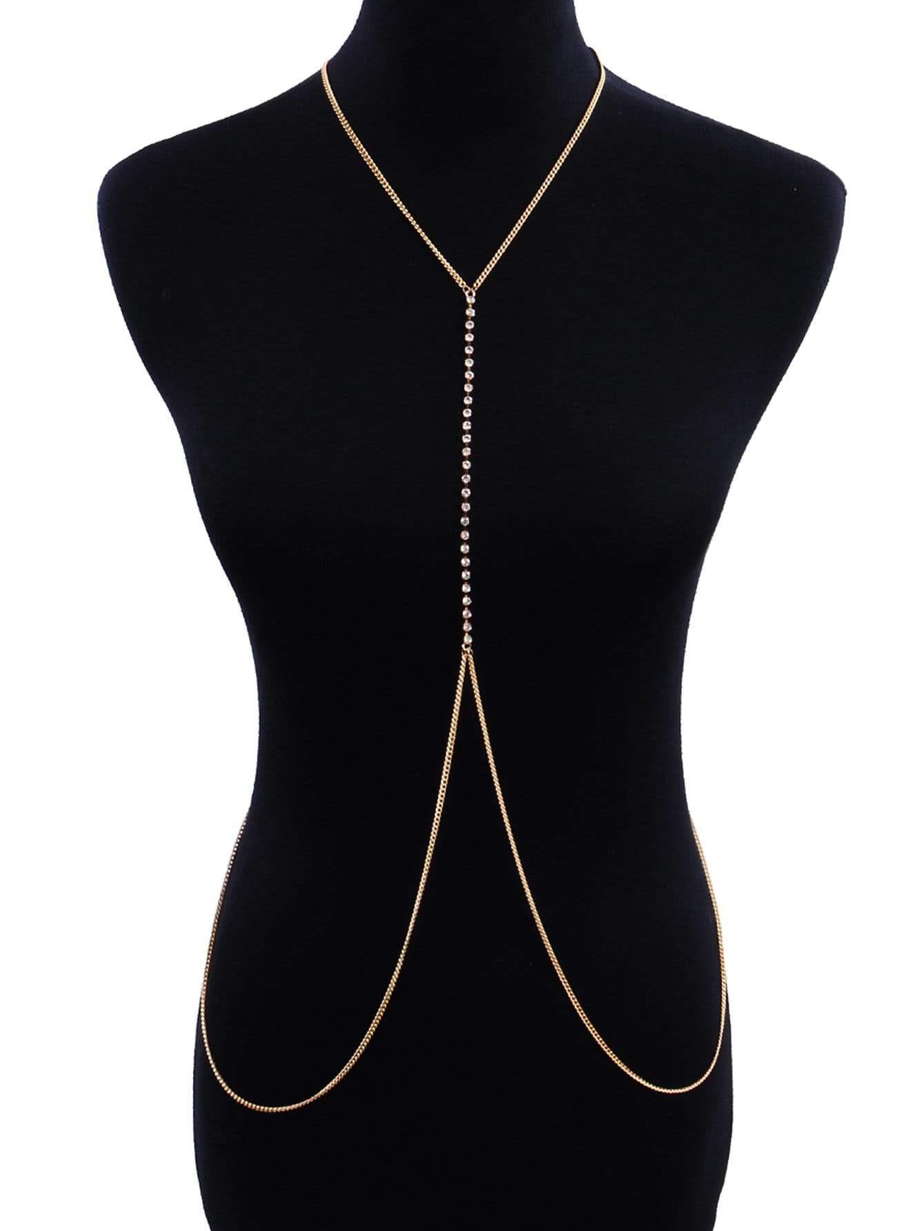 Beaded Body Jewelry  Bead Detail Body Chain