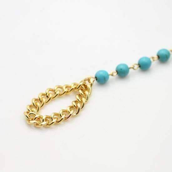 Beaded Body Jewelry  Turquoise Beaded Body Jewelry Bracelet Feshionn IOBI