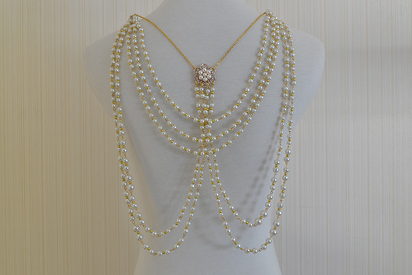 Beaded Body Jewelry  How to Make Popular Gold Beaded Chain Body Jewelry