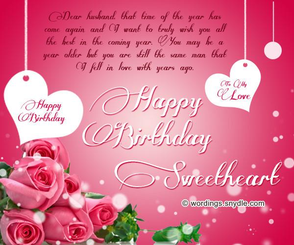Best Birthday Wishes For Husband  Birthday Wishes for Husband Husband Birthday Messages and