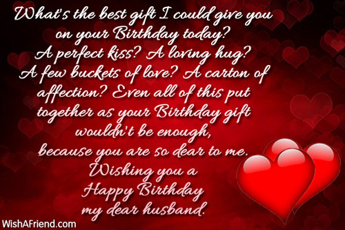 Best Birthday Wishes For Husband  What s the best t I could Birthday Wish For Husband
