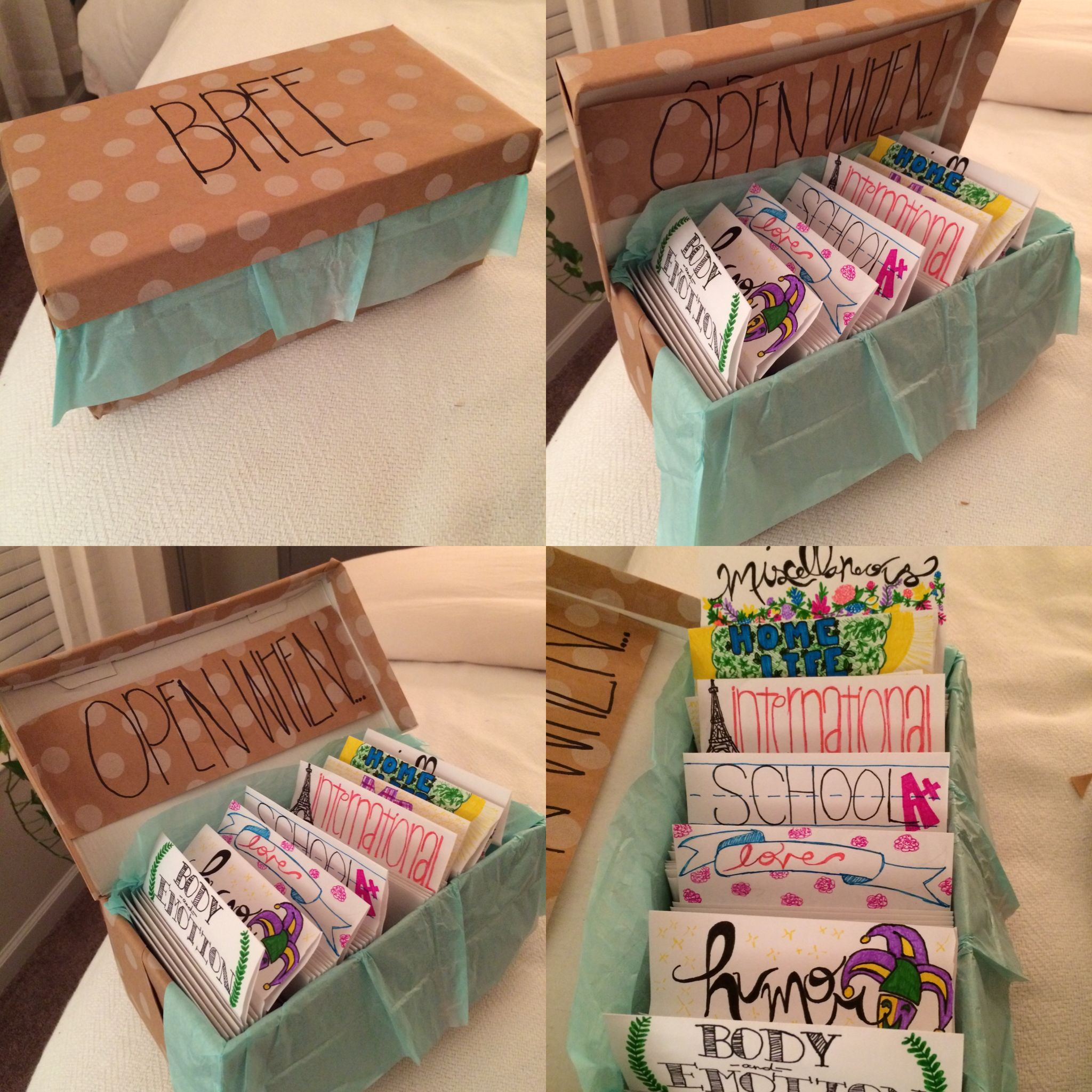 """Best Friend Gift Ideas Diy  """"Open When"""" Letters for long distance friendship With"""