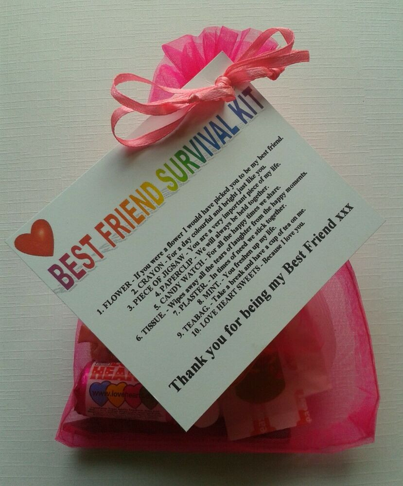 Best Friends Birthday Gifts  BEST FRIEND Survival Kit Birthday Keepsake Gift Present