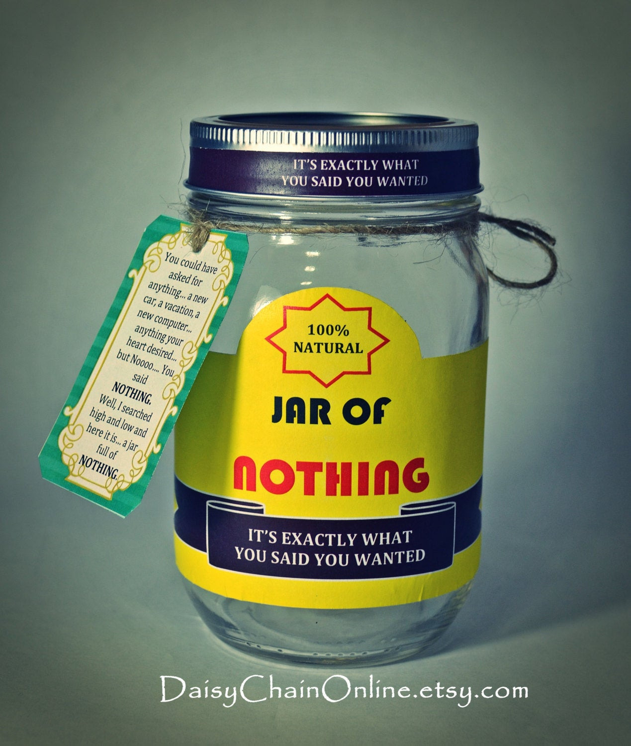 Best Gag Gift Ideas  Best Gag Gift A Jar of Nothing Funny Gift by DaisyChain line