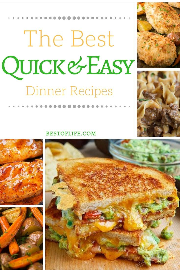 Best Quick Dinners  Best Quick Dinner Recipes