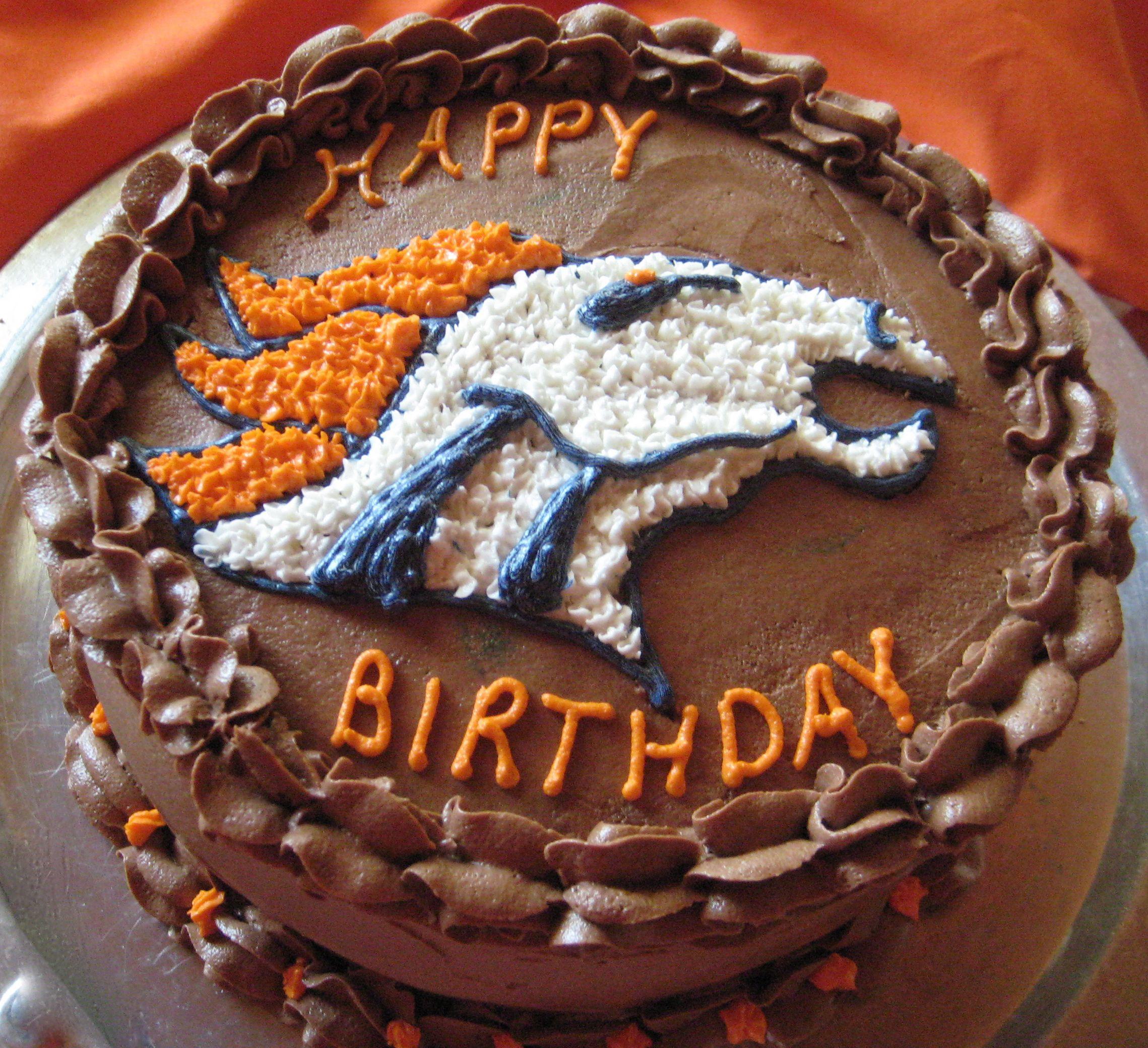 Birthday Cakes Denver  Denver Bronco Birthday Cake