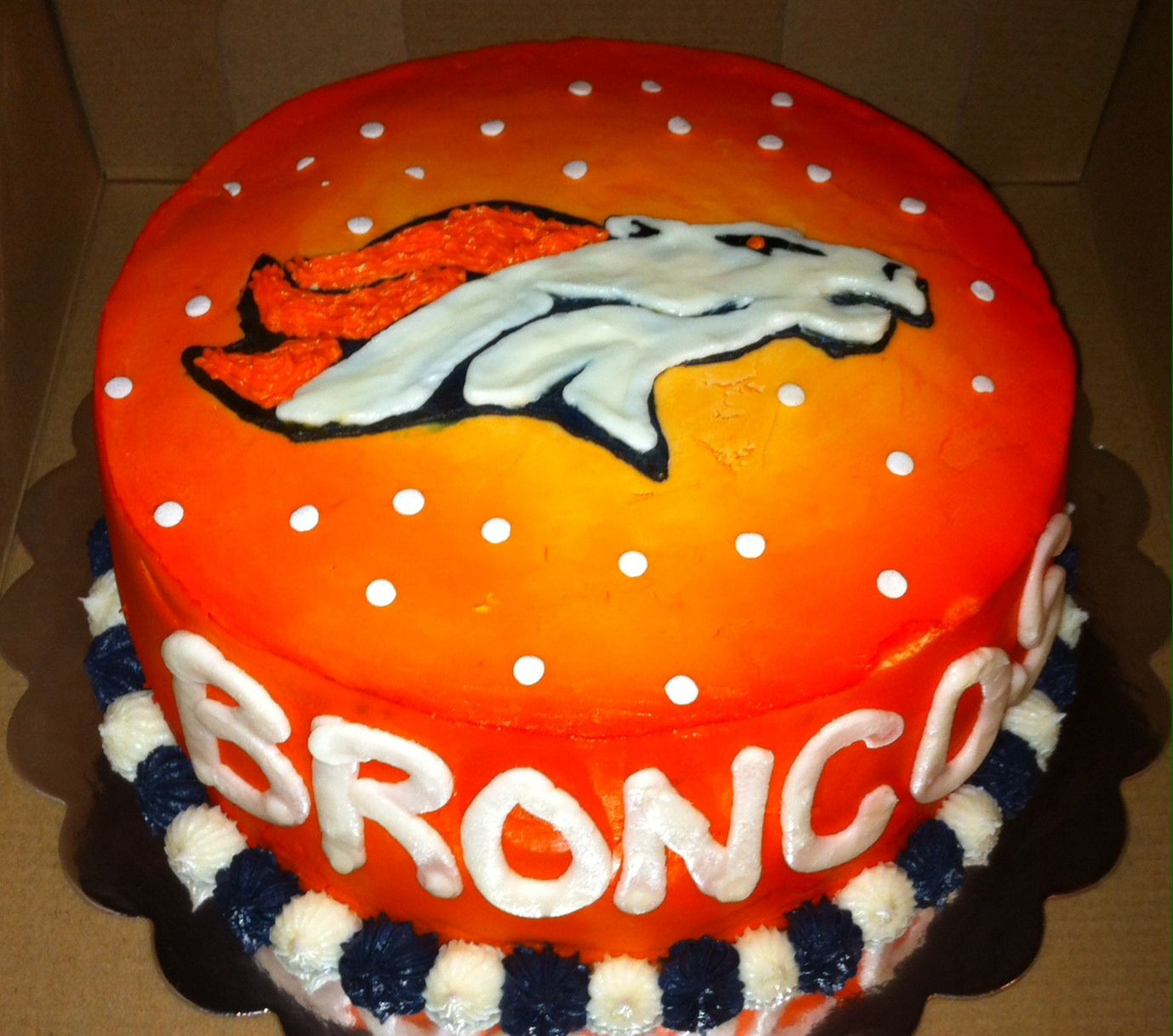 Birthday Cakes Denver  Denver Broncos cake Cakes Pinterest