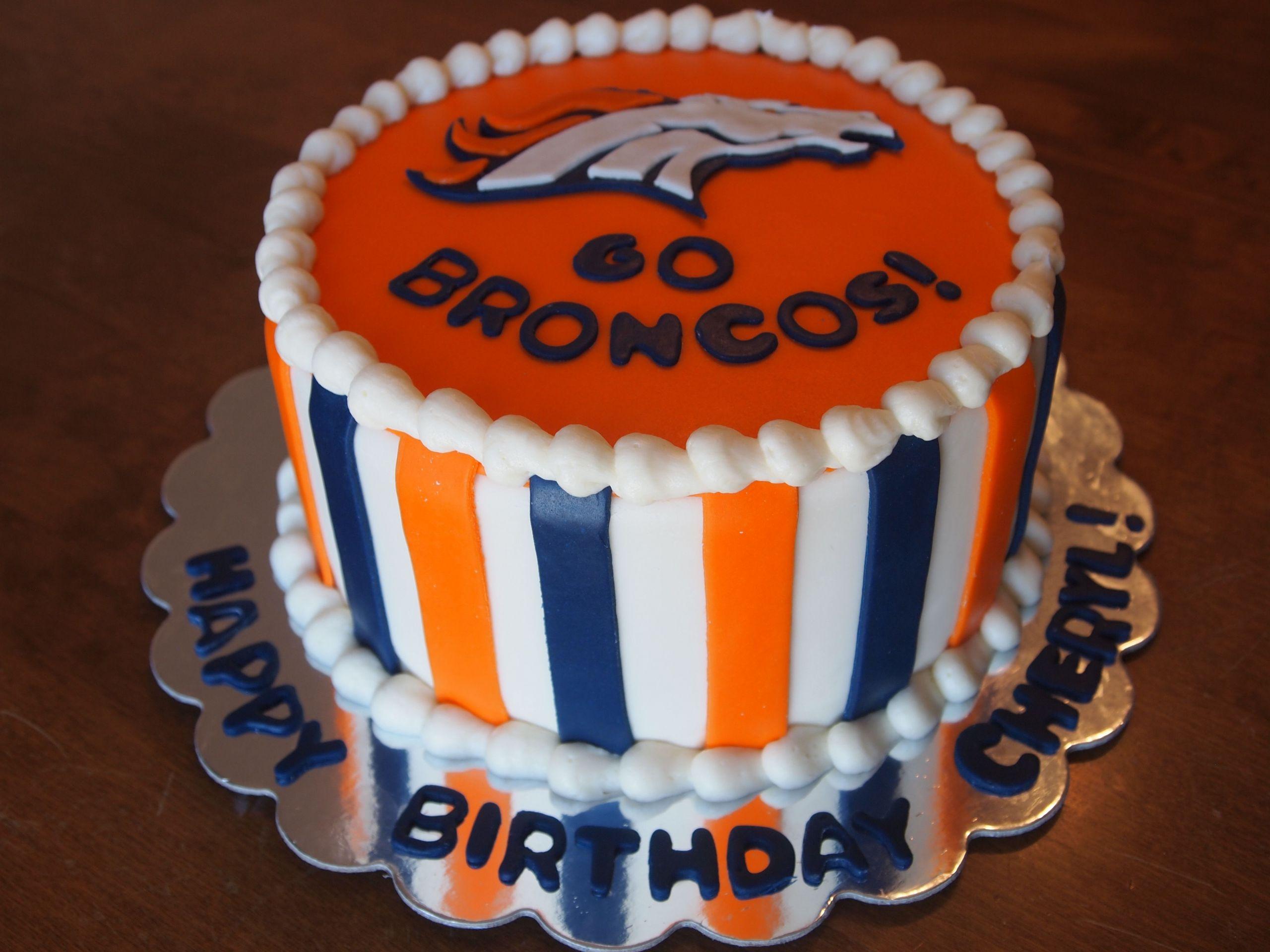 Birthday Cakes Denver  Denver Broncos Cake denverbroncoscake gobroncos