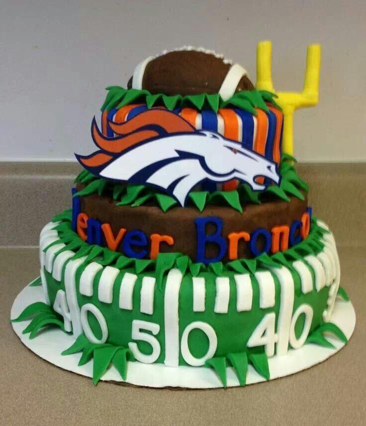 Birthday Cakes Denver  Coolest cake ever Broncos Pinterest