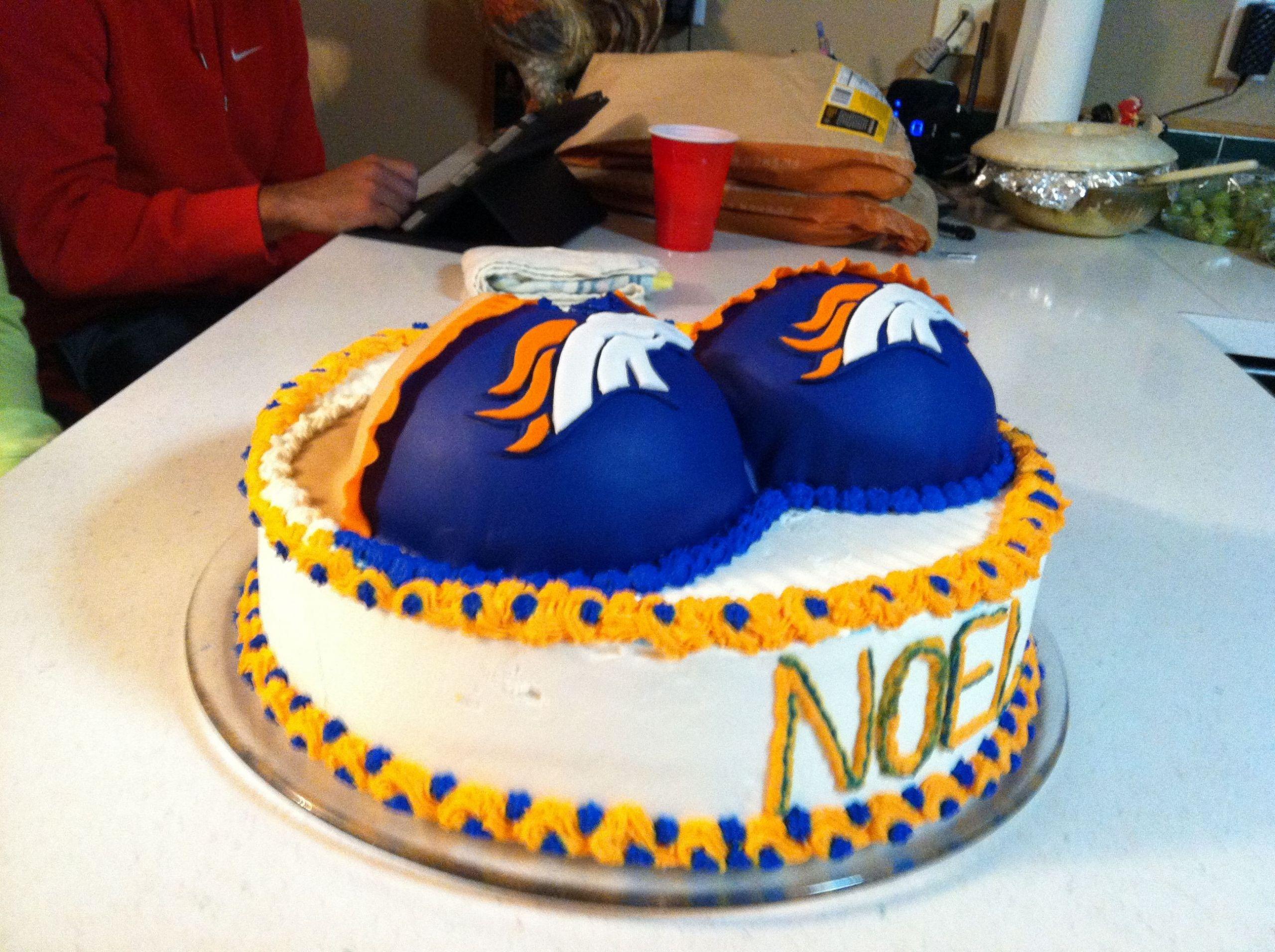 Birthday Cakes Denver  Denver Bronco cake