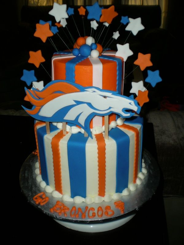 Birthday Cakes Denver  10 images about Denver Broncos Cakes on Pinterest