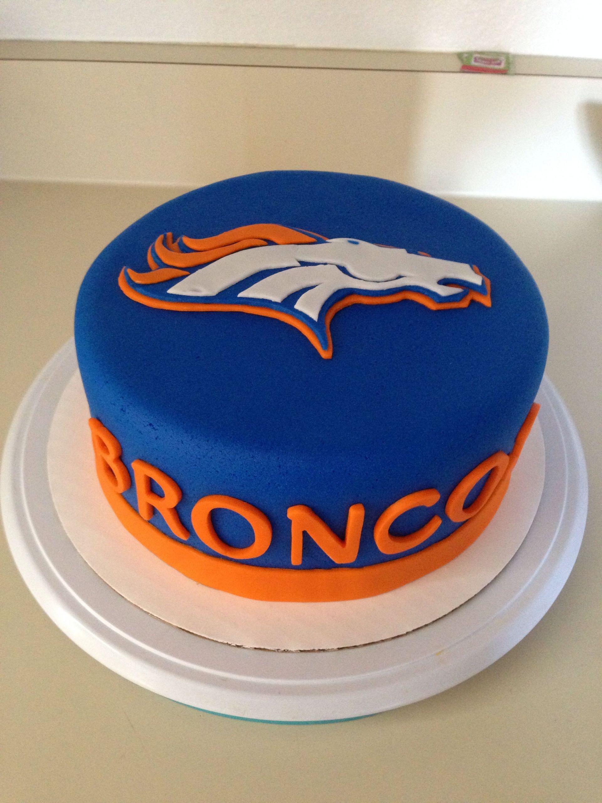 Birthday Cakes Denver  Broncos Cake