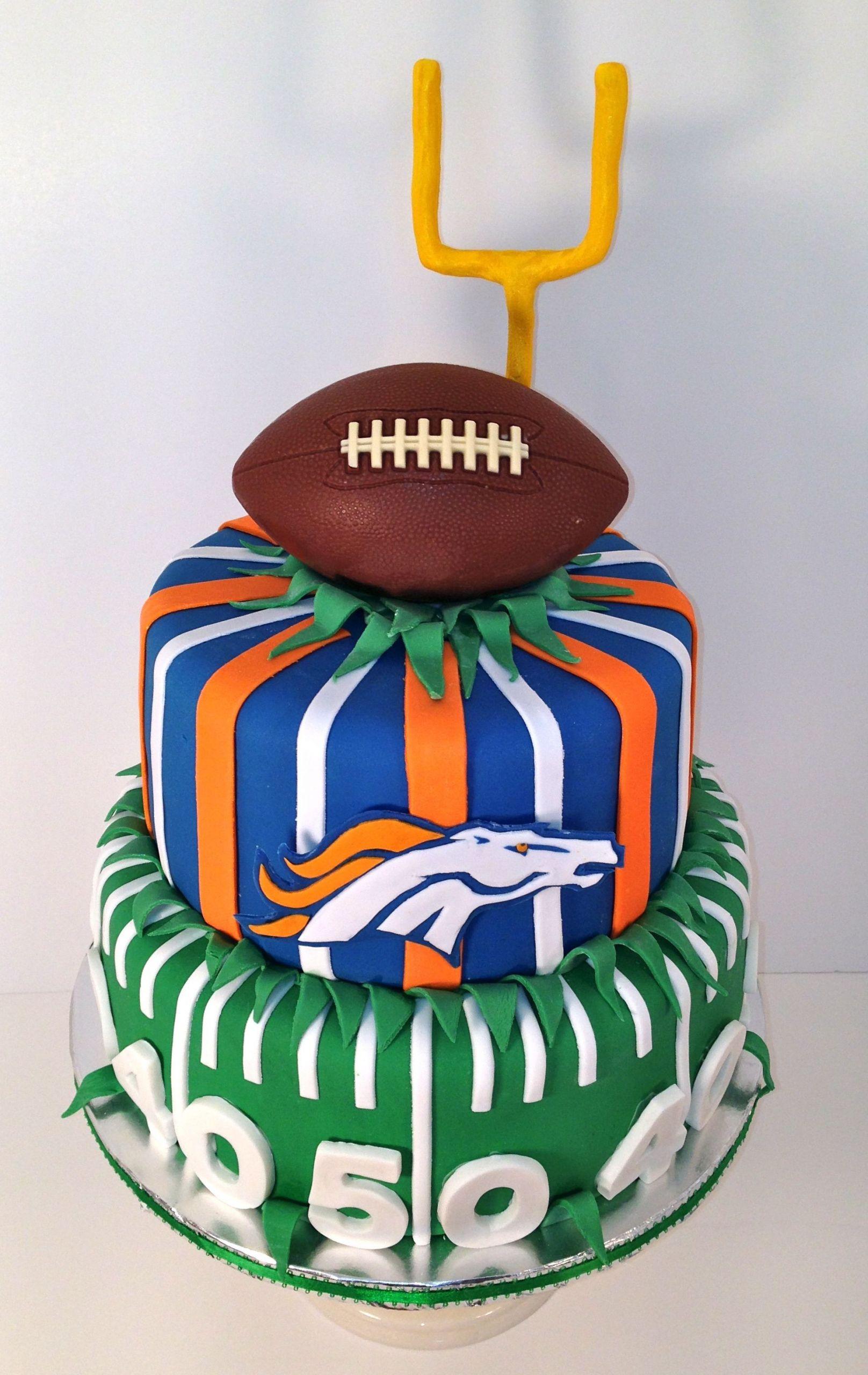 Birthday Cakes Denver  Cakes by Kirsten Denver bronco s cake football cake