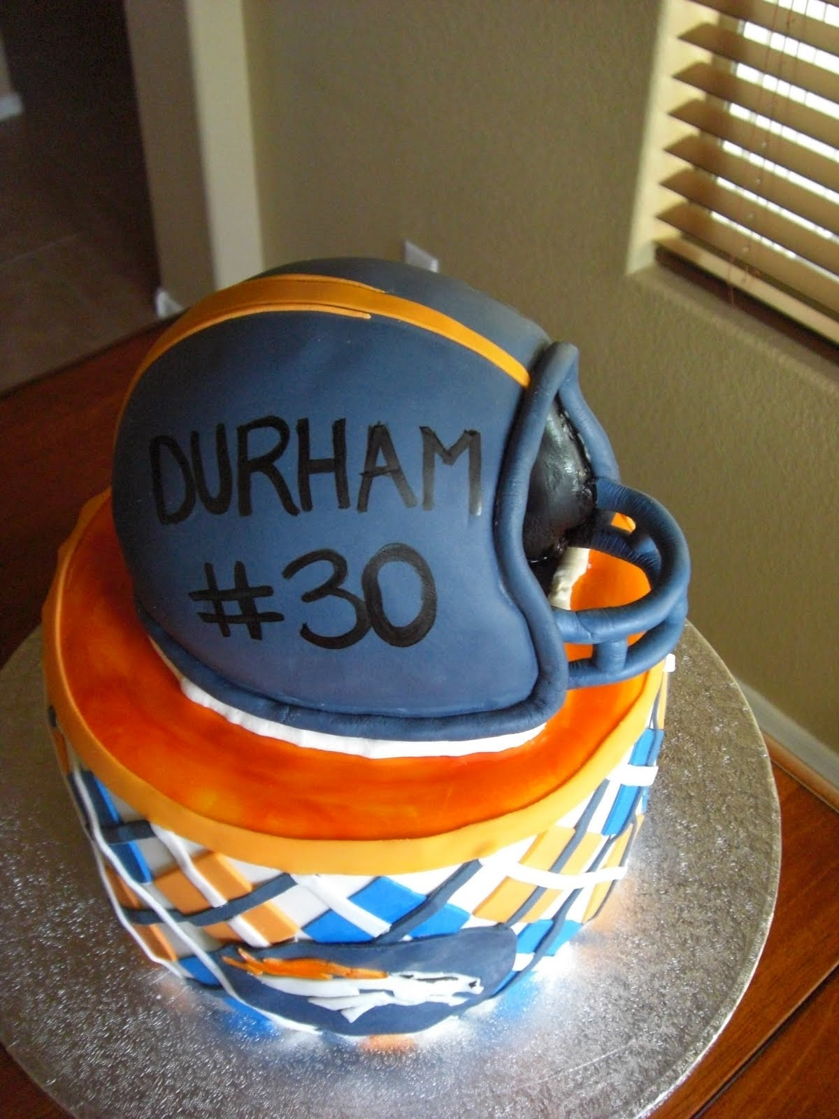 Birthday Cakes Denver  The Cake Shoppe Denver Broncos Birthday Cake