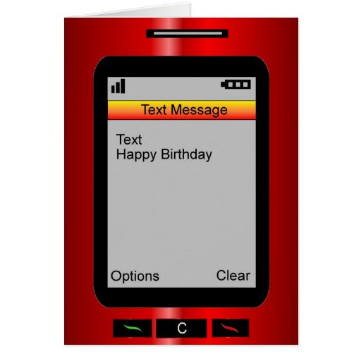 Birthday Card Text  Text Message Happy Birthday Cards