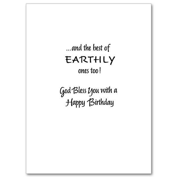 Birthday Card Text  Heavenly Blessings Your Birthday Birthday Card