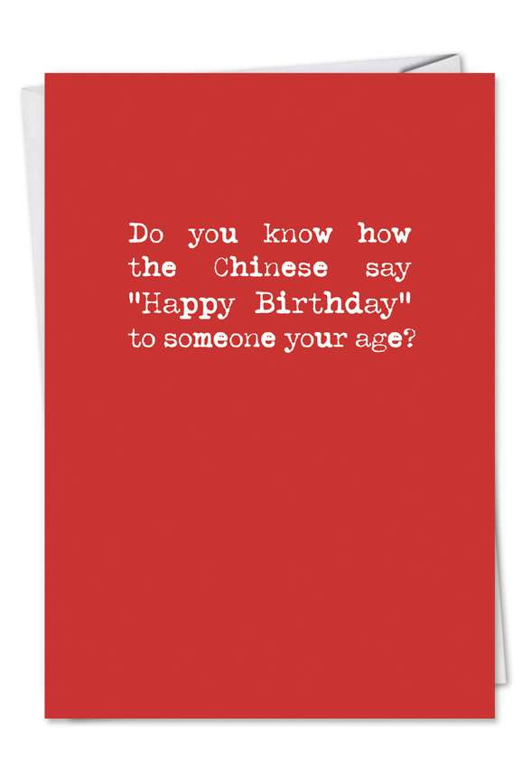 Birthday Card Text  Happy Birthday in Chinese Funny Card – NobleWorks Cards