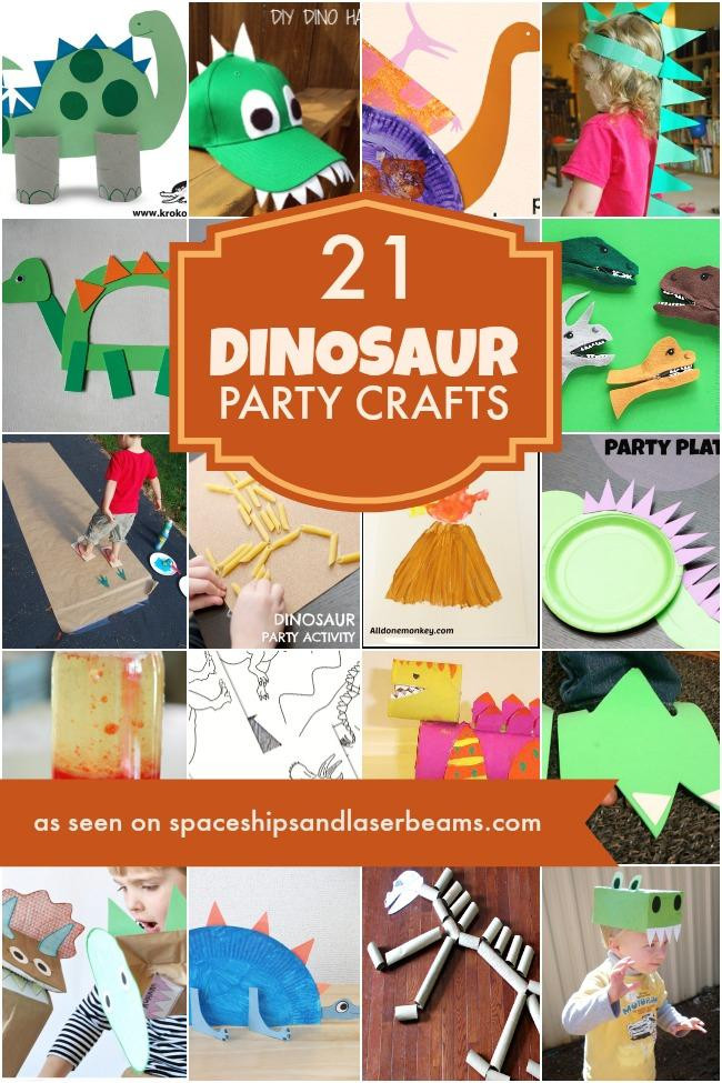 Birthday Party Crafts  21 Dinosaur Crafts Ideas Spaceships and Laser Beams