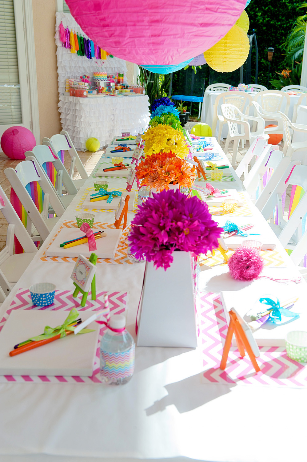 Birthday Party Crafts  A Bright and Trendy Chevron Arts and Crafts Party Anders