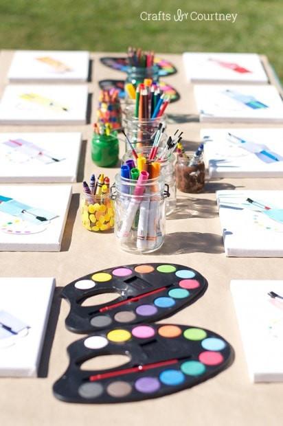 Birthday Party Crafts  Easy DIY Kids Art Themed Birthday Party