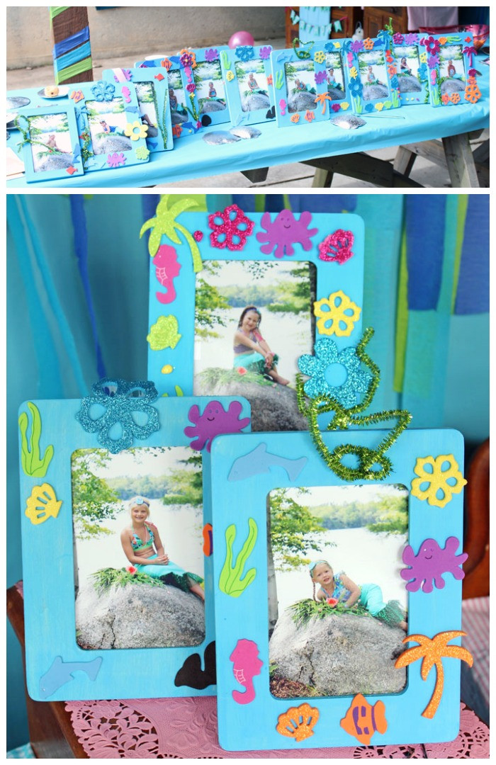 Birthday Party Crafts  Swim Over to Our Mermaid Party FYNES DESIGNS