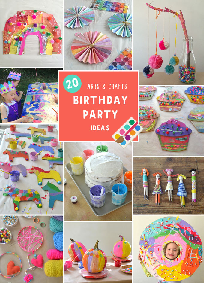 Birthday Party Crafts  Arts and Crafts Birthday Party for Kids