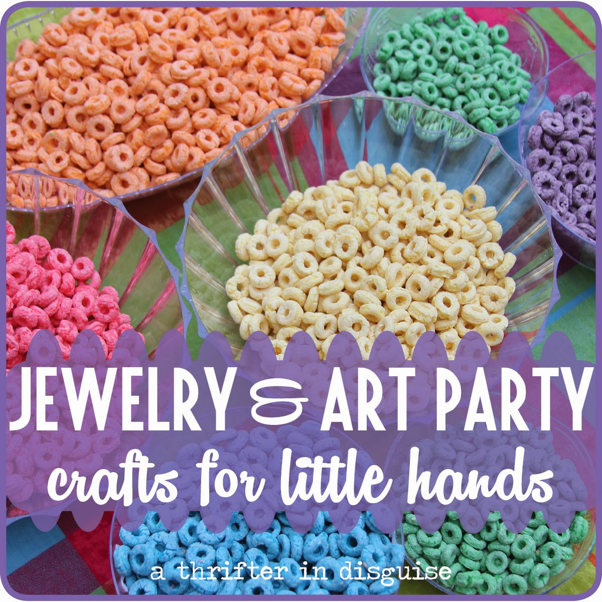 Birthday Party Crafts  A Thrifter in Disguise Jewelry & Art Themed Girls