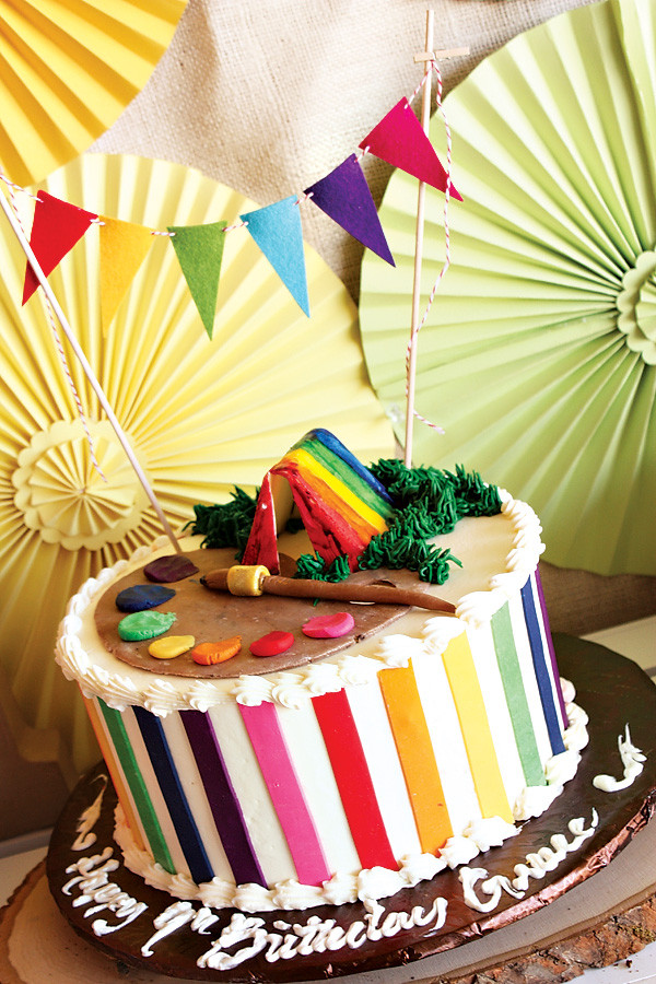 Birthday Party Crafts  Rainbow Camp Arts and Crafts Birthday Party Hostess