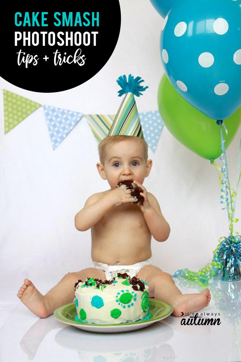 Birthday Smash Cake  DIY Cake Smash photoshoot awesome photos of baby s