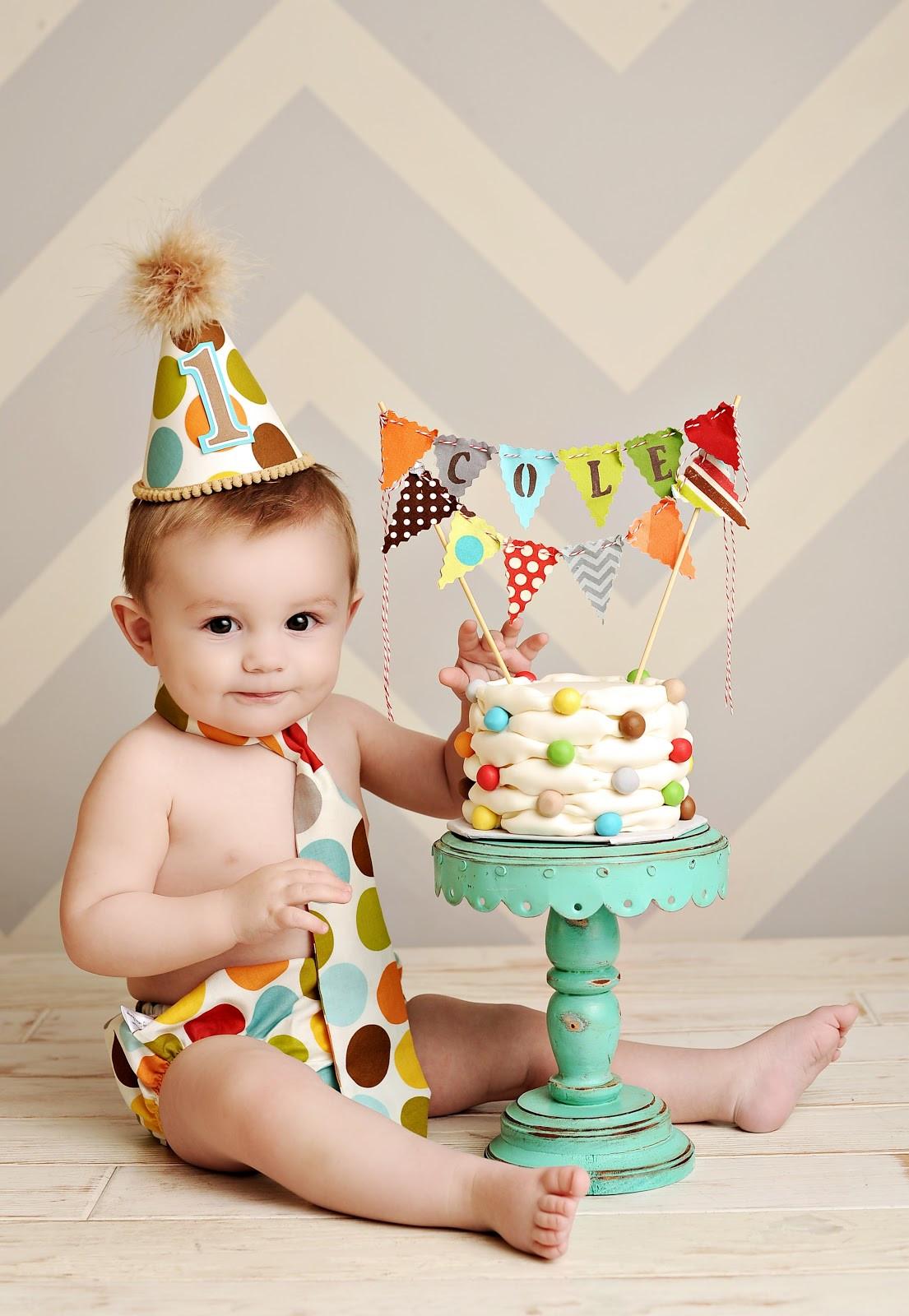 Birthday Smash Cake  Custom Cakes By Stef Billowing Smash Cake