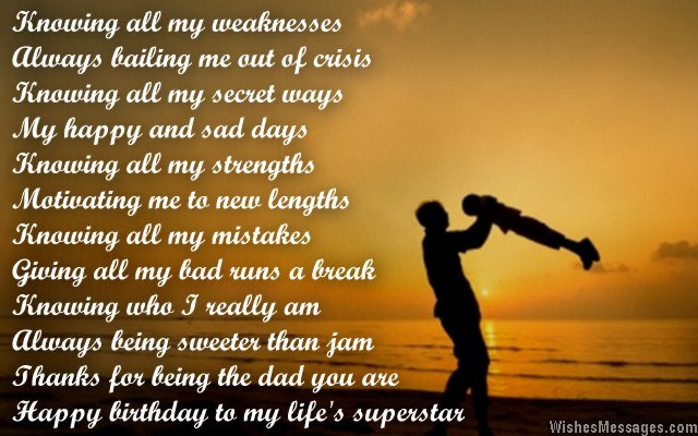 Birthday Wishes For Father From Daughter  Birthday Poems for Dad – WishesMessages