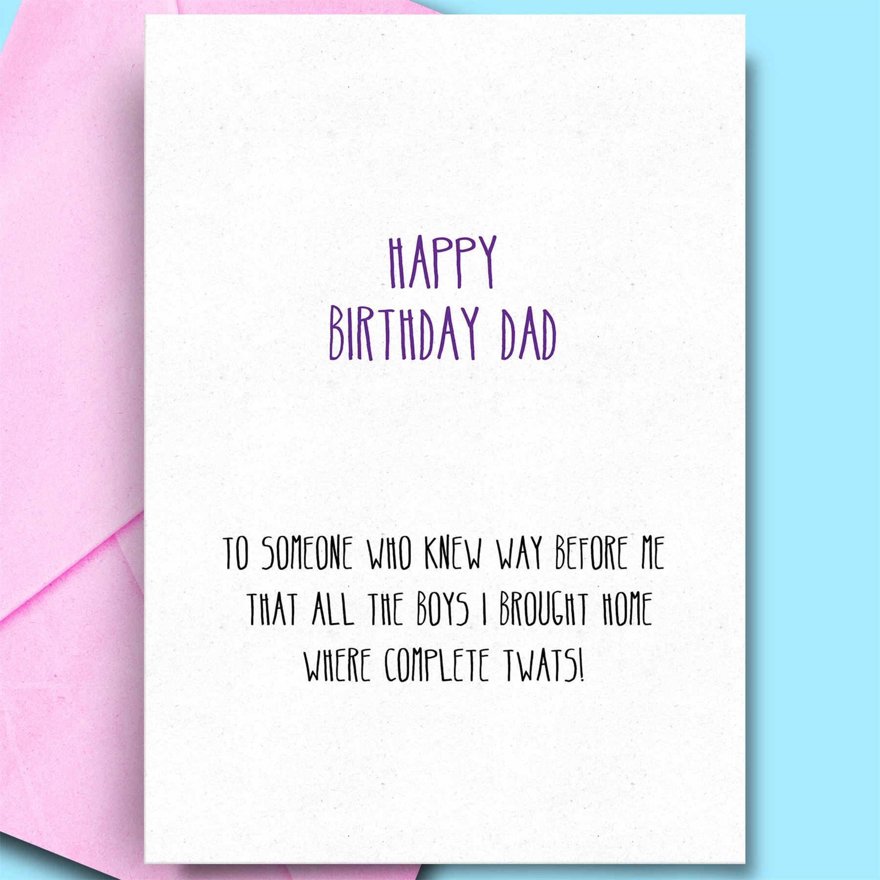 Birthday Wishes For Father From Daughter  Birthday Wishes For Father From Daughter Son Funny Rude