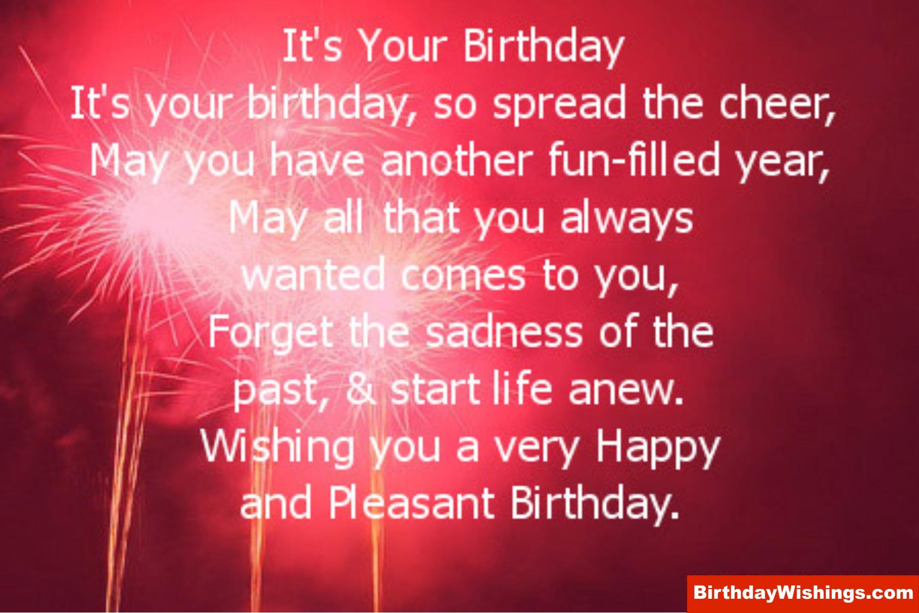 Birthday Wishes Poems  Best Happy Birthday Poem BirthdayWishings