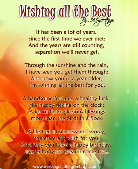 Birthday Wishes Poems  Birthday Poems 365greetings